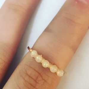 Jewelry - String of Pearls Rose Gold Ring
